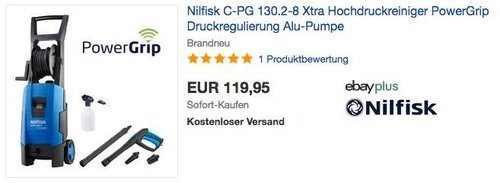Nilfisk C-PG 130.2-8 Xtra Hochdruckreiniger - jetzt 25% billiger