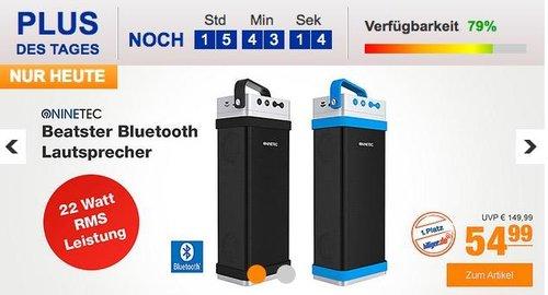 NINETEC Beatster Bluetooth Lautsprecher in Schwarz oder Blau - jetzt 31% billiger