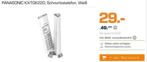 Panasonic KX-TGK220 Schnurlostelefon mit Anrufbeantworter - jetzt 42% billiger