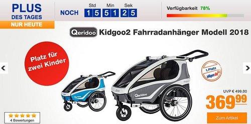 Qeridoo Kidgoo2 Fahrradanhänger Modell 2018 anthrazit oder blau - jetzt 18% billiger