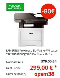 SAMSUNG ProXpress SL-M3875FW Laser-Multifunktionsgerät s/w - jetzt 21% billiger