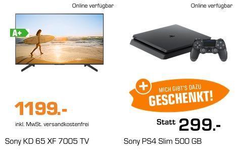 Saturn Geschenk-Aktion bis 10.9.2018, 9 Uhr: z.B. SONY KD65XF7005 164cm 65´´ 4K UHD SMART Fernseher + - jetzt 20% billiger