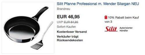Silit Professional Bratpfanne Ø 26 cm mit Wender - jetzt 20% billiger