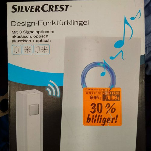 SilverCrest Design-Funktürklingel - jetzt 30% billiger