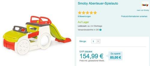 Smoby Abenteuer-Spielauto mit Rutsche - jetzt 7% billiger