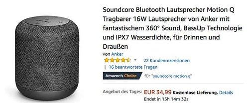 Soundcore Bluetooth Lautsprecher Motion Q - jetzt 18% billiger