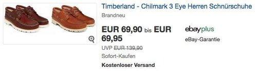 Timberland - Chilmark 3 Eye Herren Schnürschuhe - jetzt 29% billiger