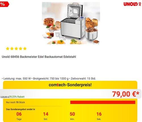 Unold 68456 Backmeister Backautomat Edelstahl - jetzt 17% billiger