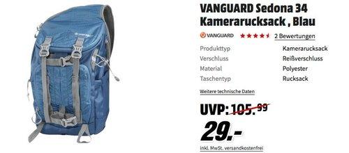 VANGUARD Sedona 34 Kamerarucksack in Blau - jetzt 27% billiger