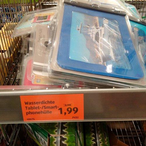 Wasserdichte Tablet- /Smartphonehülle - jetzt 33% billiger