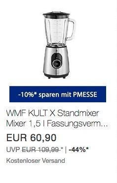WMF KULT X Standmixer 1,5 l in Cromargan Gehäuse - jetzt 10% billiger