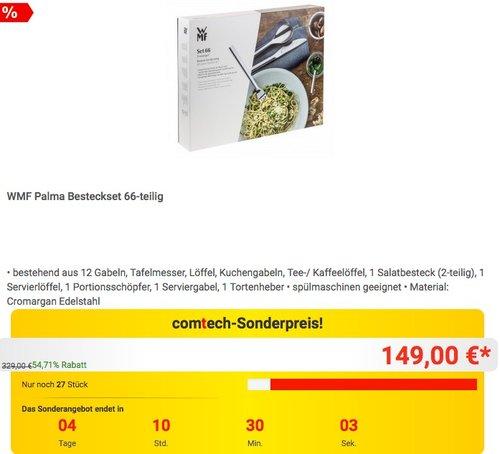 WMF Palma Besteckset 66-teilig - jetzt 15% billiger