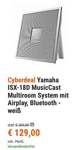 Yamaha ISX-18D MusicCast Multiroom System - jetzt 13% billiger