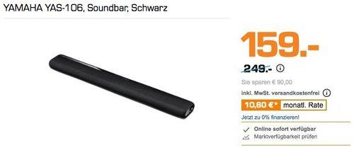 YAMAHA YAS-106 Soundbar in Schwarz - jetzt 20% billiger