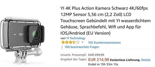 YI 4K Plus Action Kamera - jetzt 26% billiger