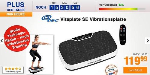 @tec Vitaplate SE Vibrationsplatte mit Fernbedienung - jetzt 7% billiger