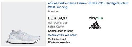 adidas Performance Herren UltraBOOST Uncaged Sneaker in Weiß - jetzt 25% billiger