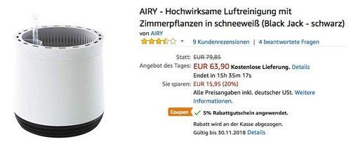AIRY - luftreinigender 5,5 Liter Pflanzentopf in Schneeweiß - jetzt 24% billiger