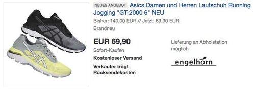"""Asics Damen und Herren Laufschuh Running Jogging """"GT-2000 6"""" - jetzt 21% billiger"""