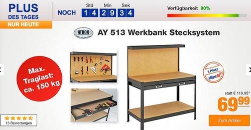 Atrox AY 513 Werkbank mit Stecksystem - jetzt 14% billiger