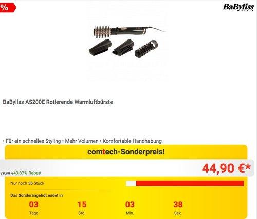 BaByliss AS200E Rotierende Warmluftbürste - jetzt 13% billiger
