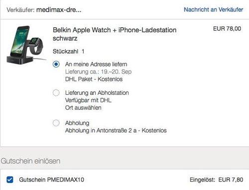 Belkin PowerHouse 2-in-1 Ladestation für die Apple Watch und das iPhone - jetzt 10% billiger