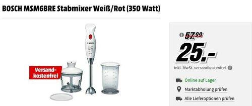 BOSCH MSM6BRE 350 Watt Stabmixer-Set - jetzt 32% billiger