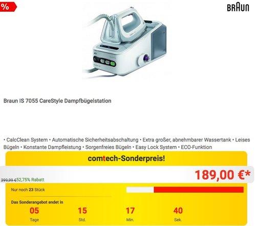Braun IS 7055 CareStyle Dampfbügelstation - jetzt 20% billiger