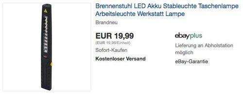 Brennenstuhl LED Akku Stableuchte Arbeitsleuchte - jetzt 20% billiger