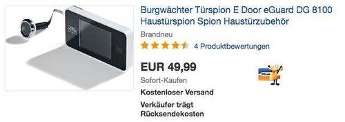 Burgwächter Türspion E Door eGuard DG 8100 - jetzt 27% billiger