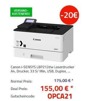 Canon i-SENSYS LBP212dw Laserdrucker - jetzt 11% billiger