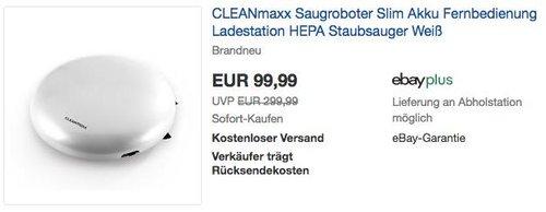 CLEANmaxx Saugroboter Slim in Weiß - jetzt 33% billiger