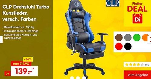 CLP Bürostuhl TURBO mit Kunstlederbezug in verschiedenen Farben - jetzt 13% billiger