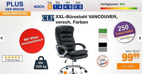 CLP XXL-Bürostuhl VANCOUVER mit Kunstlederbezug - jetzt 29% billiger