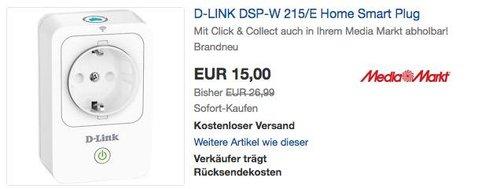 D-LINK DSP-W 215/E WLAN-Steckdose - jetzt 44% billiger