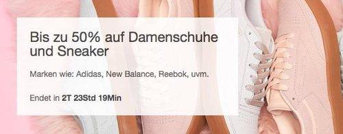 eBay Damenschuhe und Sneaker - Aktion: z.B. New Balance Damen WL220RA Sneaker peach rosa - jetzt 10% billiger