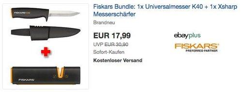 Fiskars Bundle aus Universalmesser K40 und Xsharp Messerschärfer - jetzt 21% billiger