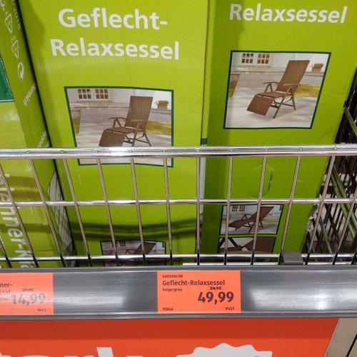 GARDELINE Geflecht-Relaxsessel - jetzt 23% billiger