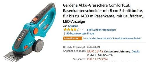 Gardena Akku-Grasschere ComfortCut - jetzt 15% billiger