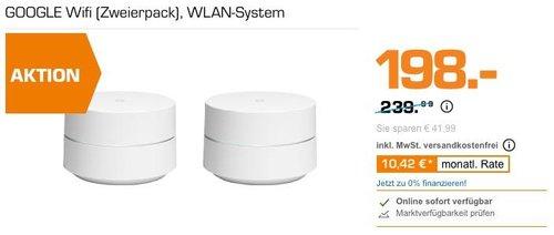 GOOGLE Wifi (Zweierpack), WLAN-System - jetzt 14% billiger