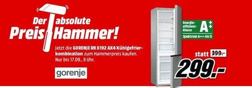 GORENJE RK 6192 AX4 Kühlgefrierkombination, A++, 185 cm - jetzt 16% billiger