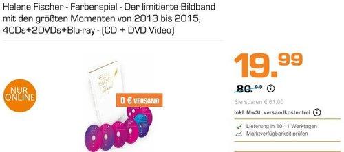 Helene Fischer - Farbenspiel - Der limitierte Bildband mit den größten Momenten von 2013 bis 2015, 4CDs+2DVDs+Blu-ray - jetzt 67% billiger