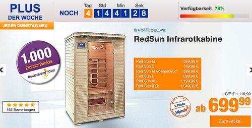 Home Deluxe RedSun M Infrarotkabine - jetzt 12% billiger