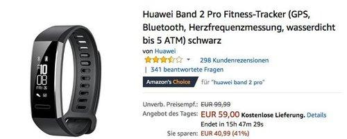 Huawei Band 2 Pro Fitness-Tracker - jetzt 21% billiger