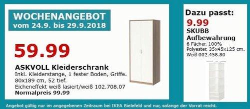 IKEA Bielefeld - ASKVOLL Kleiderschrank - jetzt 40% billiger