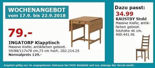 IKEA Bielefeld - INGATORP Klapptisch - jetzt 39% billiger
