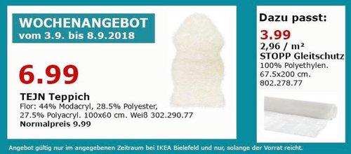 IKEA Bielefeld - TEJN Teppich - jetzt 30% billiger