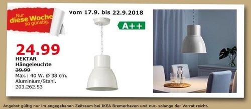 IKEA Bremerhaven - HEKTAR Hängeleuchte - jetzt 38% billiger