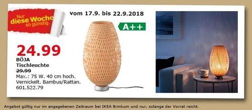 IKEA Brinkum - BÖJA Tischleuchte - jetzt 17% billiger