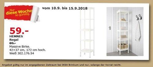 IKEA Brinkum - HEMNES Regal - jetzt 34% billiger
